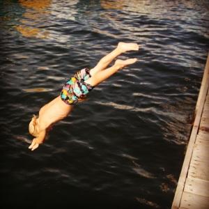 Josiah diving